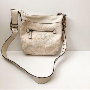 Coach brand crossbody bag cream and white